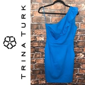 Trina Turk La Cruz Short Blue Cocktail Dress